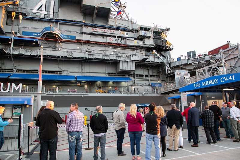 LMC Lights Up the Night Aboard the USS Midway Main Image